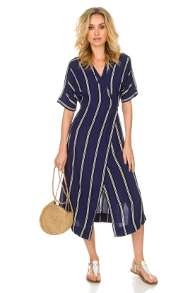 BEACHGOLD |  Wrap dress Melanie | blue