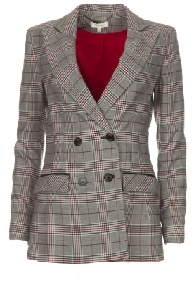 Kocca |  Checkered blazer Giolly | grey