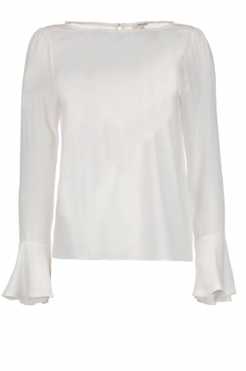 Kocca |  Top with trumpet sleeves Eliva | white