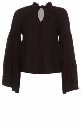 Kocca |  Blouse with wide sleeves Malene | black