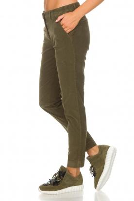 MASONS   Chino broek New York Velvet   groen