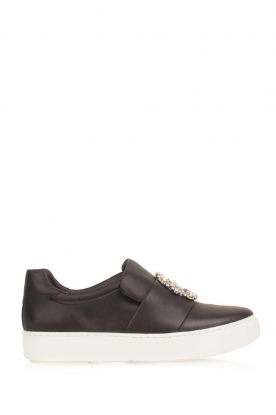What For | Slip-on sneakers Sarah | zwart