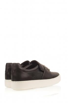 What For | Slip-on sneakers Sarah | zwart