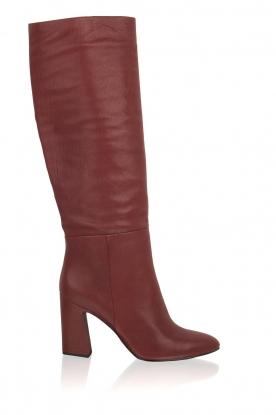 What For | Leren laarzen Jess | rood