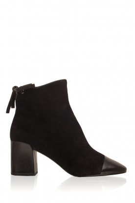 What For |  Leather ankle boots Eloise | black