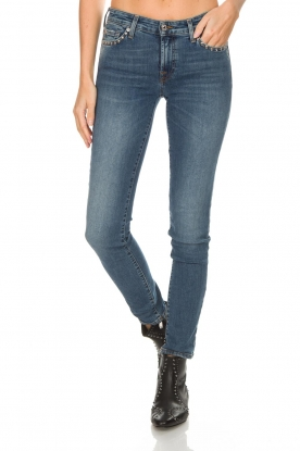 7 For All Mankind | Slim fit jeans Pyper | blauw