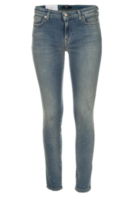 7 For All Mankind |  Cropped slim illusion jeans Pyper | blue