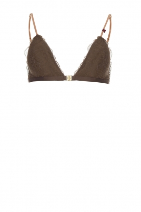 Love Stories |  Lace bralette Haisel | brown