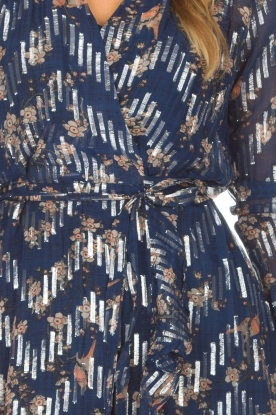 Munthe | Jurk met zilveren details Violin | blauw