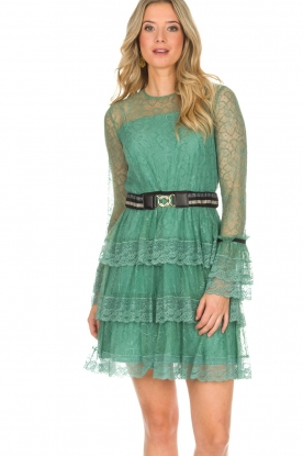 Atos Lombardini |  Lace dress Sonelle | green