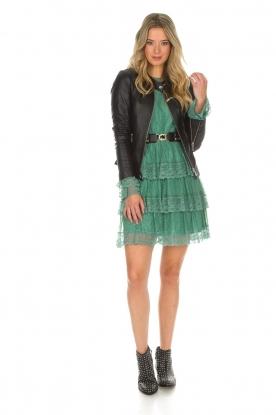 Atos Lombardini | Kanten jurk Sonelle | groen
