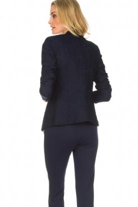 Atos Lombardini | Kanten blazer Ariana | blauw