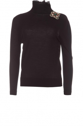 Atos Lombardini |  Turtleneck sweater Sophia | black