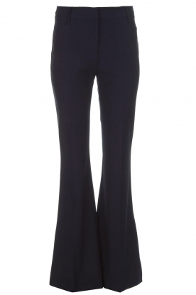Atos Lombardini |  Flared trousers Notte | blue