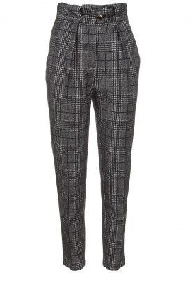 Atos Lombardini |  Checkered trousers Sevilla | grey