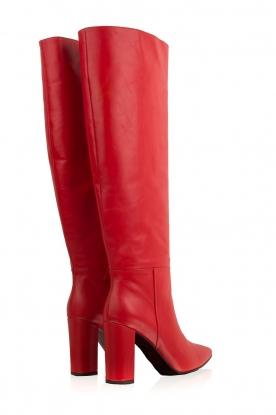 Atos Lombardini | Leren laarzen Carli | rood
