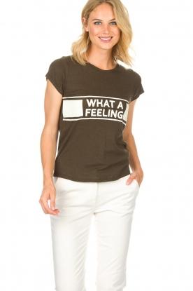 ba&sh | T-shirt What A Feeling | groen