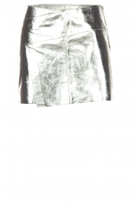 ba&sh |  Leather skirt Mania | silver