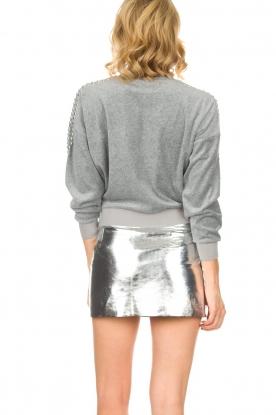 ba&sh | Leren rok Mania | zilver