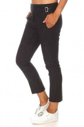ba&sh | Pantalon met krijtstreep Bango | zwart