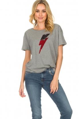 Set | T-shirt Ligthning | grijs