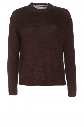 Rabens Saloner | Glitter sweater Nadia | copper