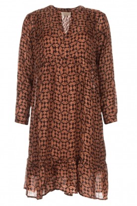 Rabens Saloner |  Printed dress Elze | copper