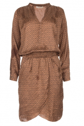 Rabens Saloner |  Dress Lisamay | brown