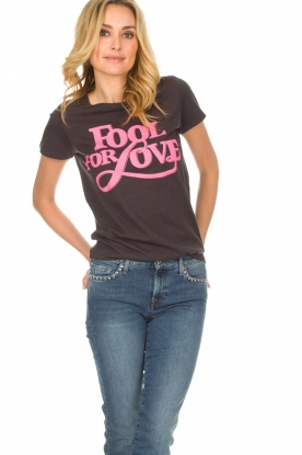 Lolly's Laundry | T-shirt Romee | zwart