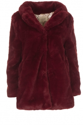 Lolly's Laundry | Faux-fur jas Emma | bordeaux