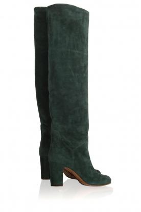 L'Autre Chose | Suède knee-high laarzen Cher | groen