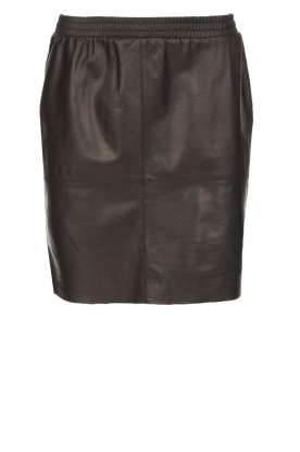 Dante 6 |  Leather skirt Comet | black