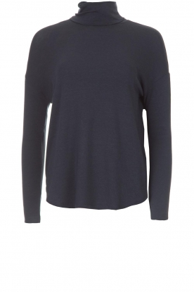 BLAUMAX |  Turtleneck top Ilona | blue