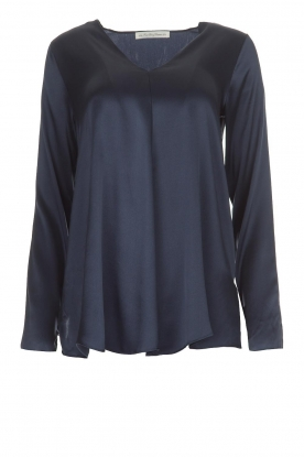 BLAUMAX |  Silk top Lorena | navy