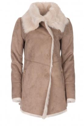 OAKWOOD   Faux lammy coat Emma   beige