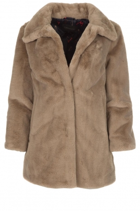 OAKWOOD | Faux fur jas Luna | beige
