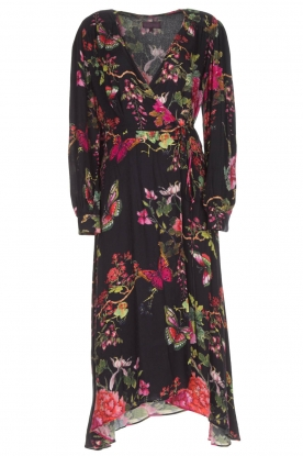 Hale Bob |  Long dress with floral print Yael | black