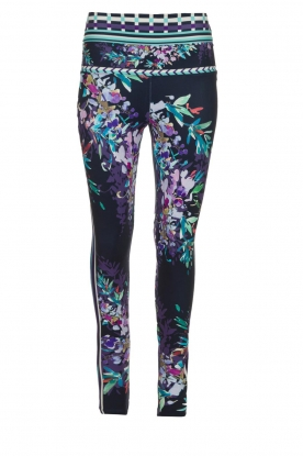 Hale Bob |  Floral printed leggings Eveline | blue