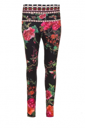 Hale Bob |  Floral printed leggings Eveline | black