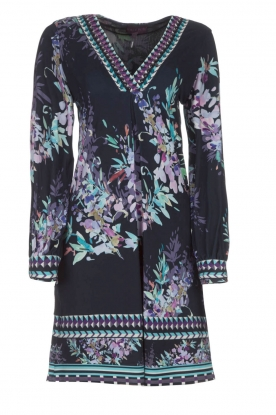 Hale Bob |  Dress with floral print Ruth | blue