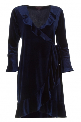 Hale Bob |  Velvet wrap dress Lexa | blue