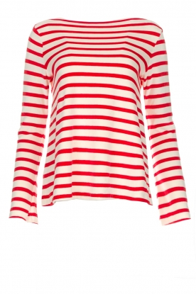 Be Pure |  Striped sweater Liv | red
