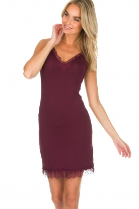 Rosemunde |  Slip Dress Billie | burgundy