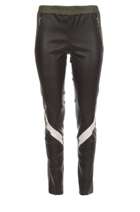 Arma |  Leather leggings Beverly | black