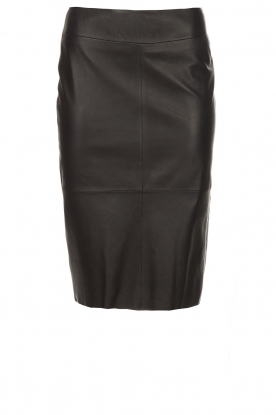Arma |  Leather pencil skirt Inxs | black