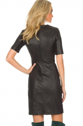 Arma | Leren jurk Casta | zwart