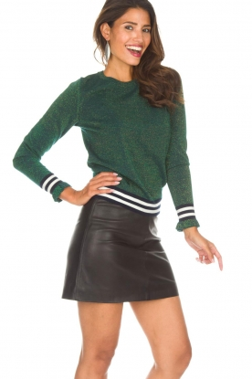 Arma |  Leather skirt Campbell | black