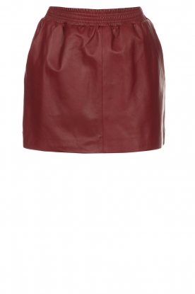 Arma |  Leather skirt Mare | red