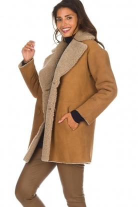 Arma | Lammy coat Kristina | camel