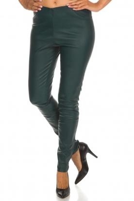 By Malene Birger | Lamersleren legging Elanasio | groen